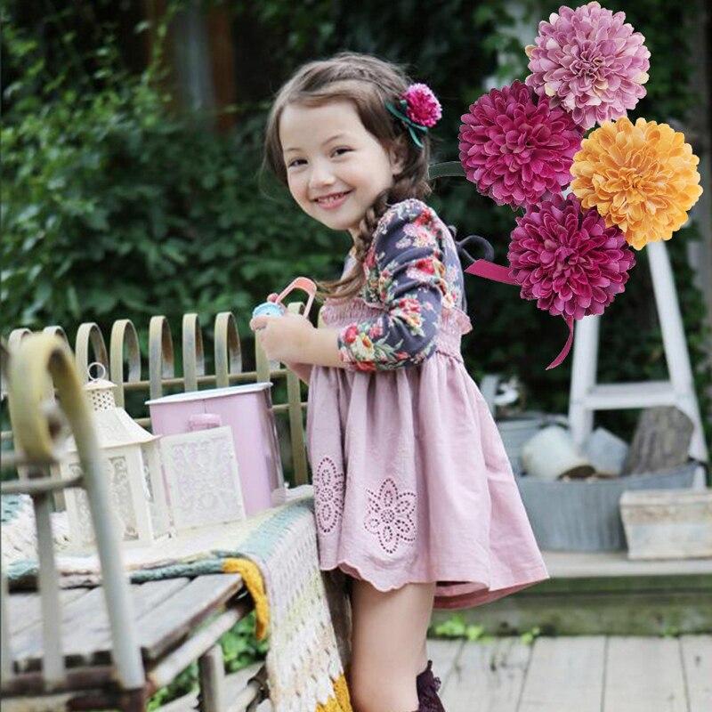 2018 Cute Chidren Flower Hair Clips Girls Diadema Hair Accessories Headband Hair Styling Tools For Girl Beauty Floral