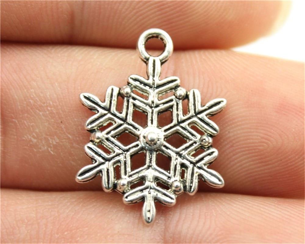 Liberal Wysiwyg 10 Stücke 22x16mm 2 Farben Antike Silber Antike Gold Schnee Anhänger Schneeflocke Weihnachten Schneeflocke Anhänger Charme