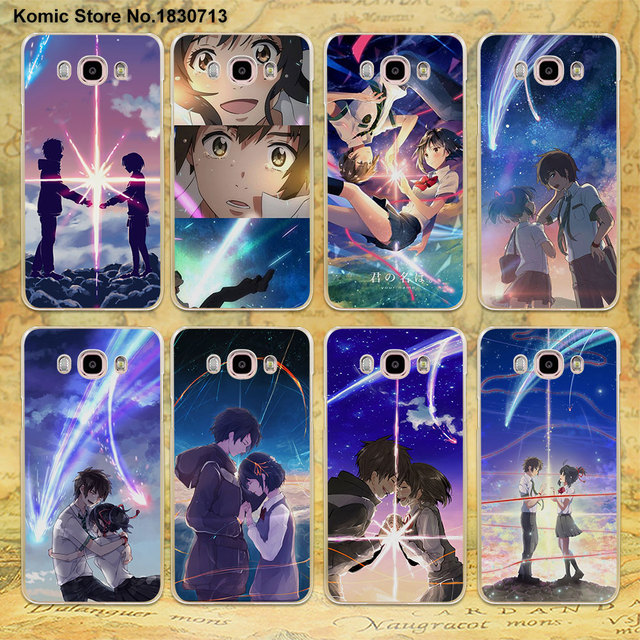 anime movie your name design clear transparent phone case for