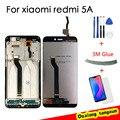 100% Оригинальный ЖК-дисплей Xiaomi Redmi 5A с рамкой  сенсорный дигитайзер  ЖК-дисплей для Redmi 5A  запасные части в сборе