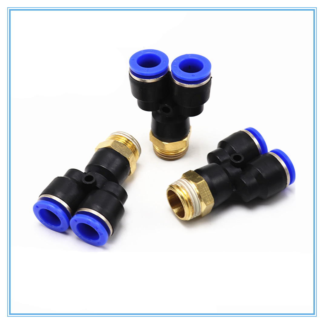 """1 Pneumatic1//4/""""BSPT Female 3 Way Air Hose Quick Coupler Socket Connector SMY3"""