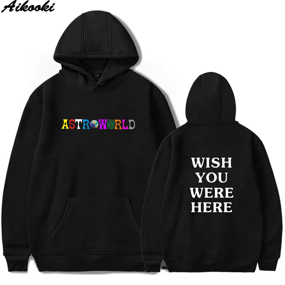 ASTROWORLD Hoodies Men/Women Sweatshirt Hip Hop Hooded Print ASTROWORLD Hoodies 2018 Male Sweatshirts Plus Size(China)
