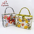 Новый стиль моды жемчужина алмазов цветок lemon печать окно мешок женщин змеиной шаблон плеча сумки сумка кошелек