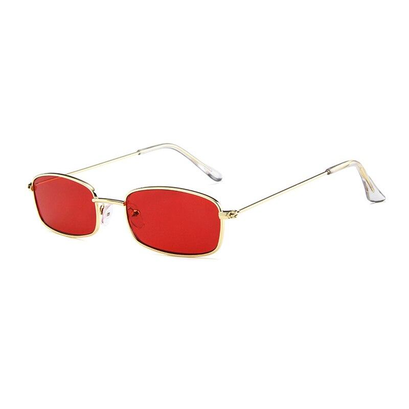 Women Metal Sunglasses Men Retro Small Square Sun Glasses Female Yellow Pink Lens Glasses Small Frame Shades Eyeglass 2018