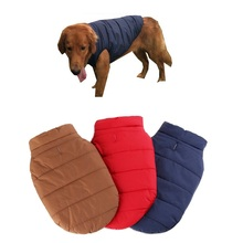 3 Colors Windproof Pet Dog Puppy Vest Jacket Pet Clothing Warm Dog Autumn/Winter Clothes Coat For Small Medium Large Dogs XS-3XL