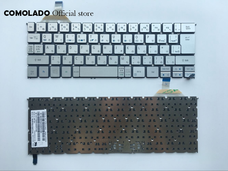 JP Japanese Keyboard For ACER s7 s7-391 S7-392 Silver backlight laptop layout