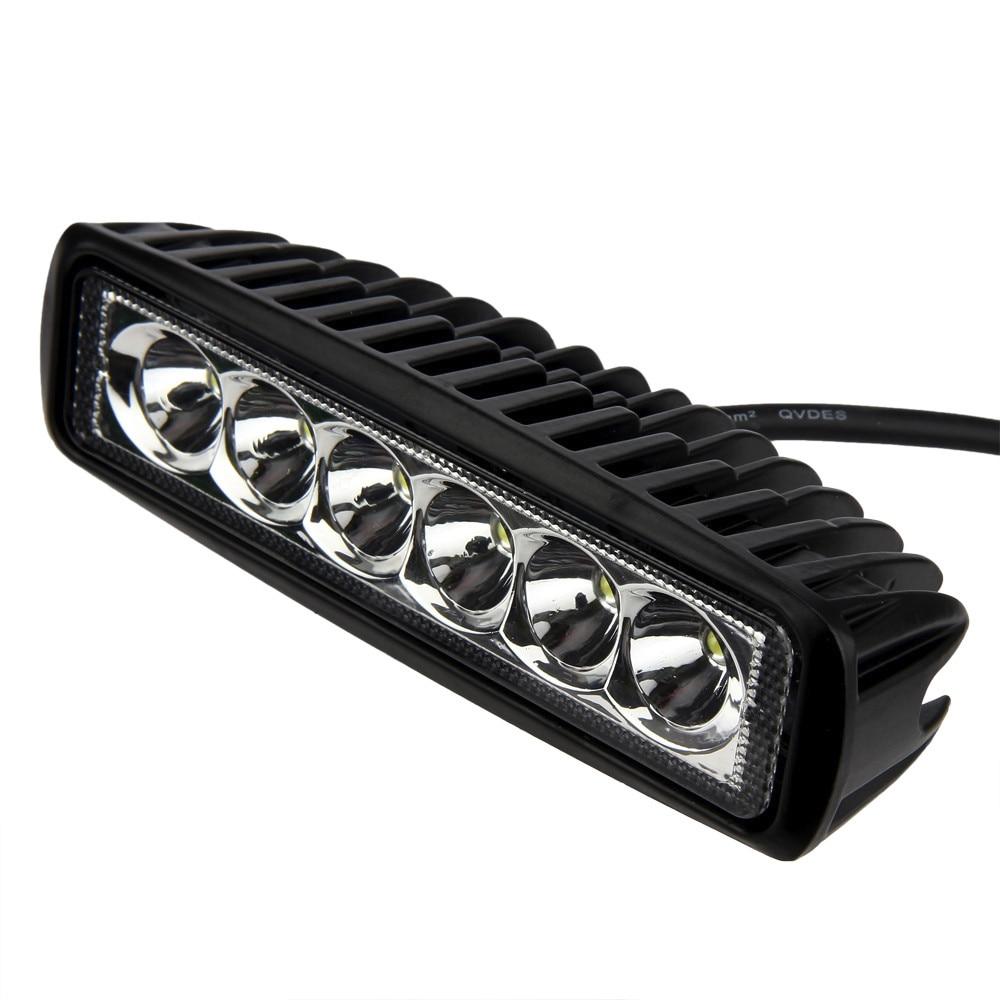 kongyide led light bar 18W Flood work light bar SUV 4WD Car Boat Truck auto Light bulb led car lights