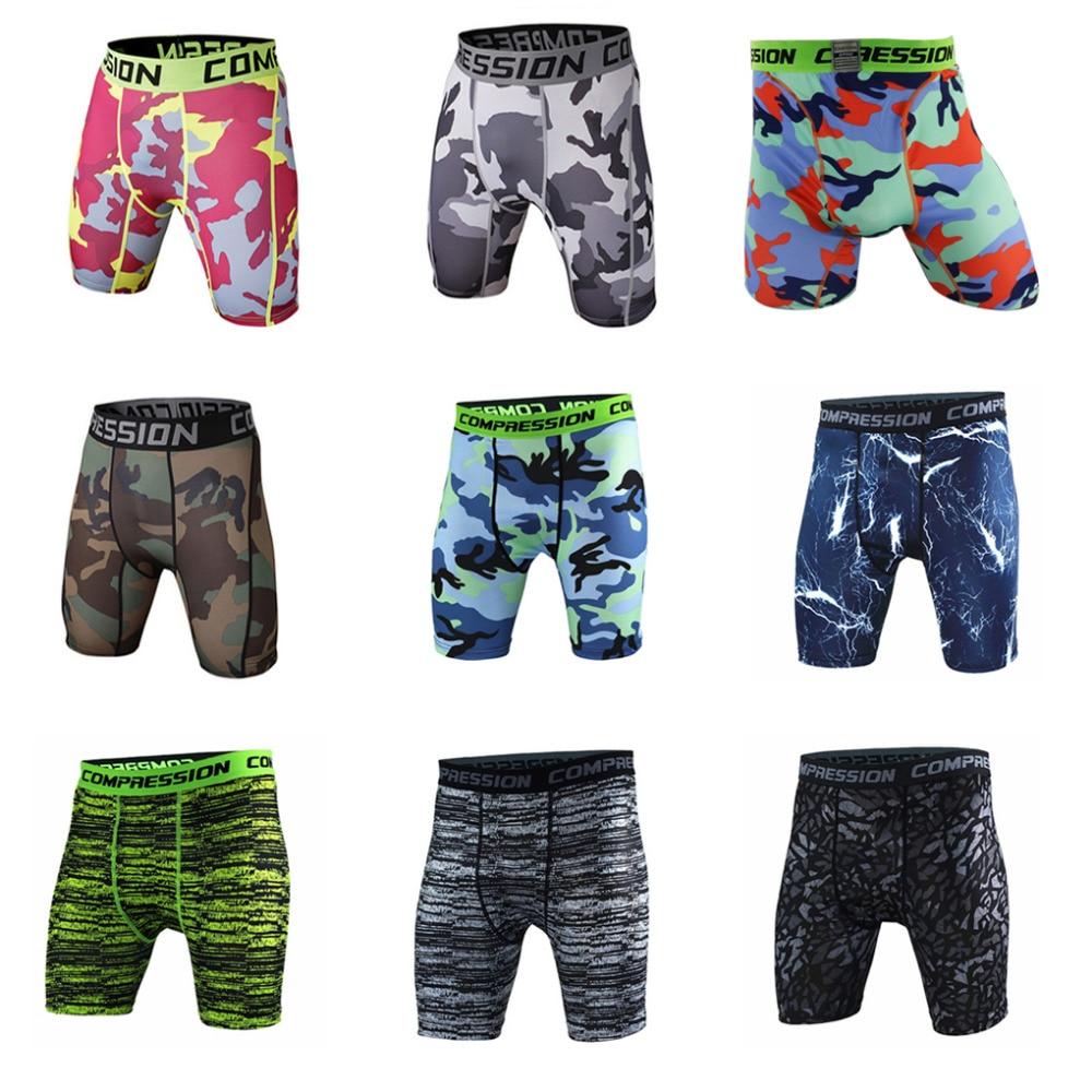 2016 fashion Camouflage Quick Dry Men Tight Skin Compression Shorts