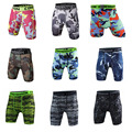 2017 fashion Camouflage Quick Dry Men Tight Skin Compression Shorts