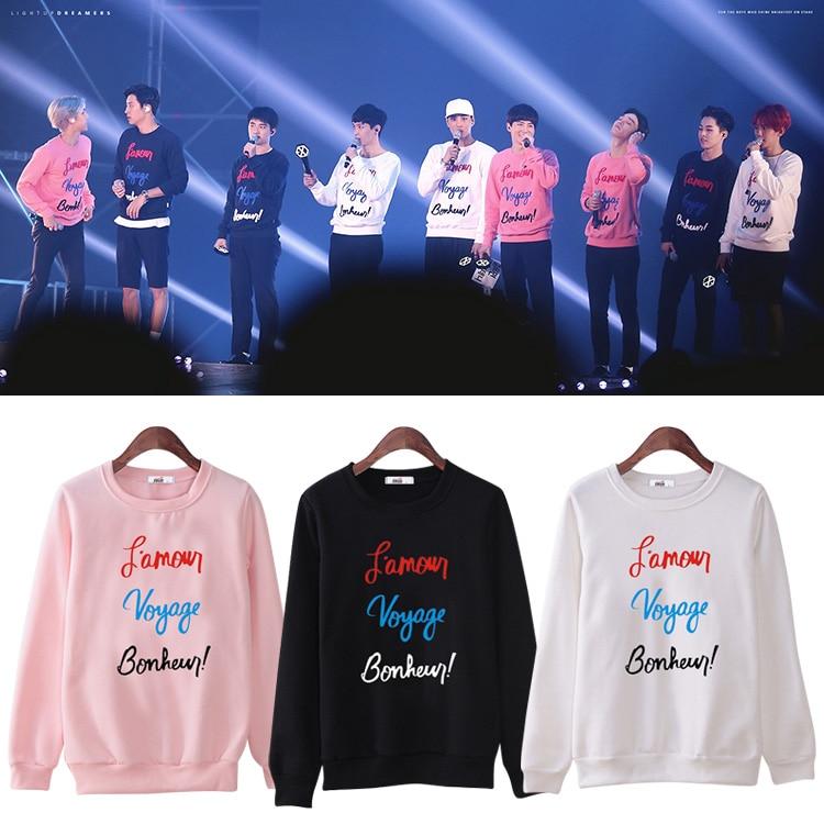 New Arrival Star EXO products Sehun Baekhyun lay kai chen Suit long sleeve hoody Outerwears sweatershirt