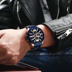 Image 5 - CURREN นาฬิกาผู้ชายสแตนเลสสตีลนาฬิกาข้อมือควอตซ์ทหาร Chronograph ชายนาฬิกาแฟชั่นนาฬิกาสปอร์ตกันน้ำ 8336