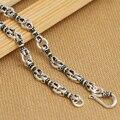 4.5 MM hechos a mano 925 de plata tibetana Dorje collar Vintage collar de plata de ley