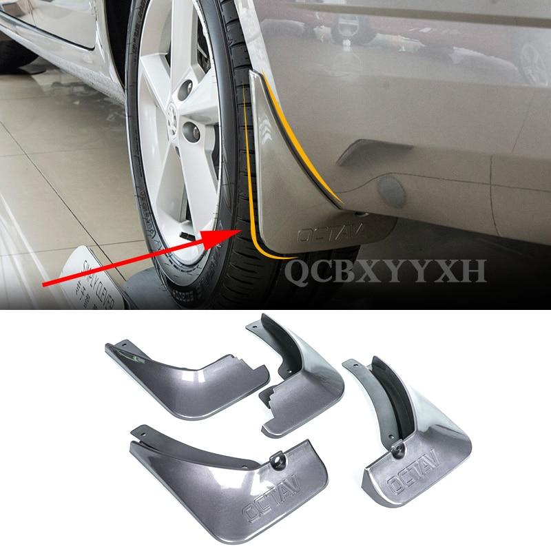 4pcs Car Styling ABS Mud Flap Splash Guard Mudguard Mudflap Fender Perfector External Decoration For Skoda