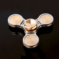 MUQGEW  Fidget spinner metal Brass Alloy EDC Hand fidget toys High Speed Fidget Tri-Spinner Toys  Kids Gift  #XTYW