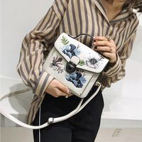 Personality Design Luxury Embroidered Flower Handbags Women National style Rivets Shoulder Bags Small Crossbody Bag For Female