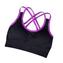 Women Sports Bra Tank Top Vest Crop Tops Camisole Yoga Fitness Workout Bras Seamless Padded Racerback Stretch