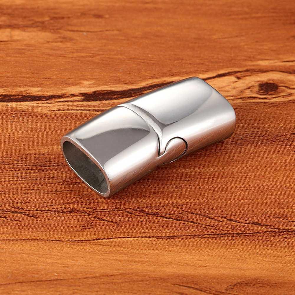 As Vendas no atacado 2 pçs/set tamanho Do Furo 12X6mm Botão Magnético de Aço Inoxidável Conectores Pulseira DIY Jewelry Making Achados