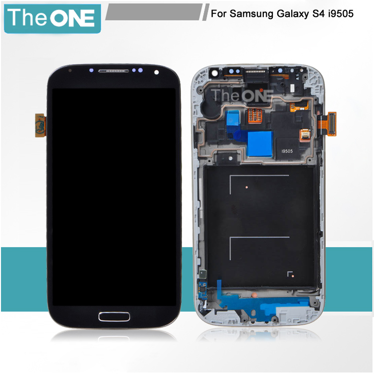 Free DHL LCD Display touch Screen For Samsung Galaxy S4 i9505 LCD Digitizer Assembly with frame Black/Blue/White набор отверток и сверл