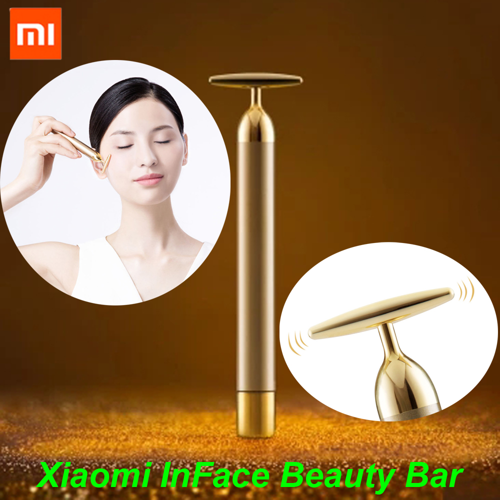 Xiaomi inFace Gold Beauty Bar Gold-plated Massage head Speed Up Metabolism Face-lifting Eliminate Edema SPA Portable Beauty Bar beauty bar beauty bar hair band watercolor