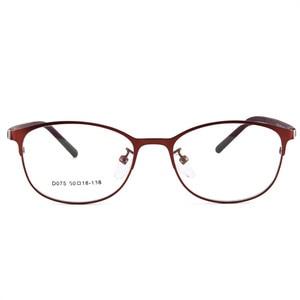 Image 5 - Woman Full Frame glasses Fashion Eyeglasses Super Light Casual Optical Frame Metal Material Prescription glasses 075