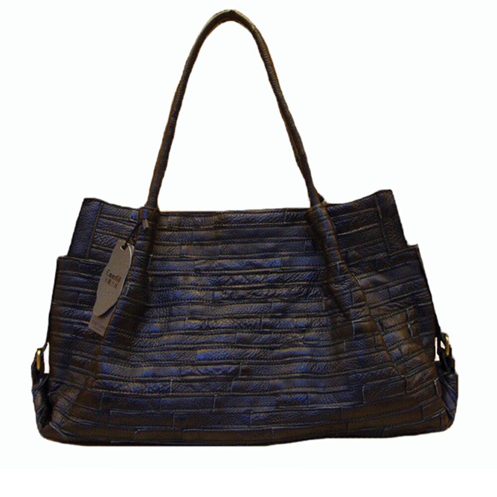 Caerlif 2017 womens shoulder leather bags stripe splicing portable handbag leisure joker single handbags women famous brands фильтр для воды новая вода expert м330