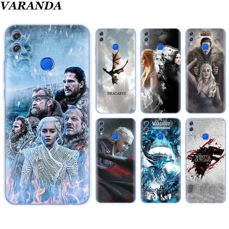 Funda blanda de silicona game of throne art para Huawei Honor 8X 8C 7A 7C 7S 9 10 Lite Y5 Y6 Y7 Y9 2019 funda de teléfono Coque