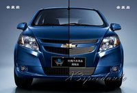 High Quality New Aluminum Alloy 3PCS Front Racing Grill Grille Cover Trim For Chevrolet Sail 2011