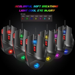 Image 4 - Gaming Mouse 2019 Wired Mice 4 Side Buttons 6000DPI Optical Macros Computer Mouse Gamer RGB Backlit For Desktop PC