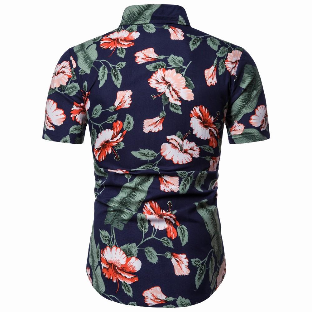 Men 39 s Shirts Casual Blouse Men Floral Shirts Mens clothing Hip hop Slim fit Hawaiian Flower Summer in Casual Shirts from Men 39 s Clothing
