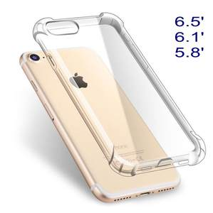 1pcs Case for iPhone XS Max XR 5 5s SE 6 6s 7 8 plus X iX 6.5 6.1 5.8 Case Coque Anti Knock Clear TPU Silicone Cover Phone Bag