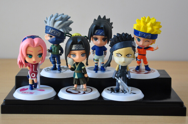 6 Piece Set Naruto Action Figures