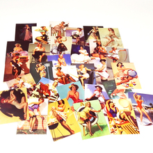 Pvc Stickers 100Pcs Retro Girl Beauty Waterproof