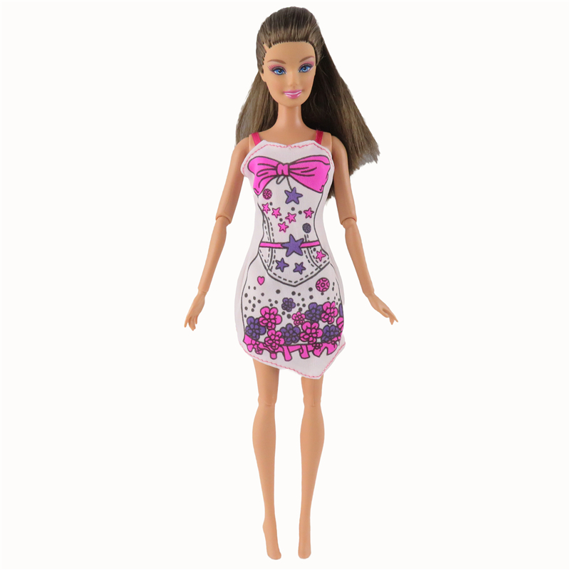 1 Pcs Style Brief Gown Stunning Handmade Celebration Outfit Barbie Doll Garments For Barbie Dolls Gown Lady's Reward For Youngsters#004A
