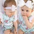NOVA Chegada 2016 Verão Sem Mangas Floral Bodysuit Infantil Do Bebê Meninas Bodysuit Crianças Macacões Roupas de Bebê