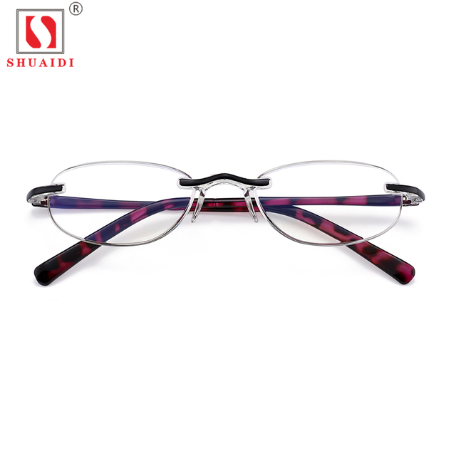 ebd0c8f898a Women Rimless Reading Glasses Womens Plastic Reader Eye Glasses Spring  Magnifying Glasses Anti Blue Light +1.0 to +4.0 Diopter