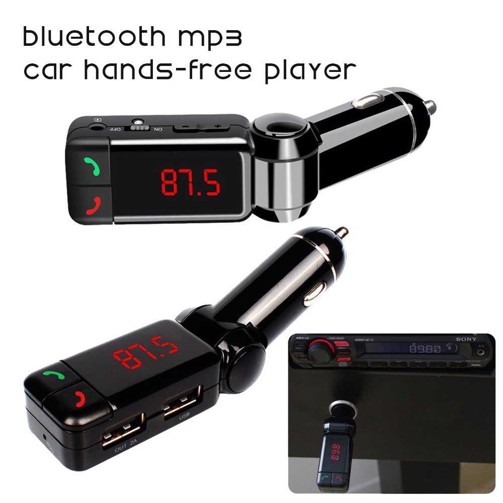 Wireless FM Transmitter Hands-free Car Kit Radio Modulator MP3 LCD USB Charger