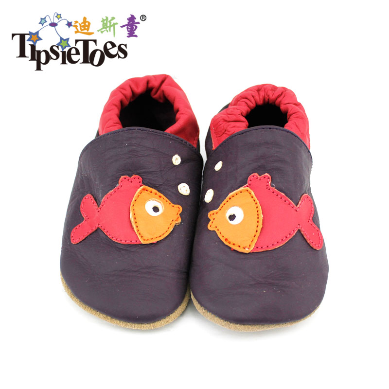 Free Shipping Genuine Leather Baby Lovely Fish Styles Moccasins Newborn Shoes Soft Infants Sneakers First Walker Slippers Kids