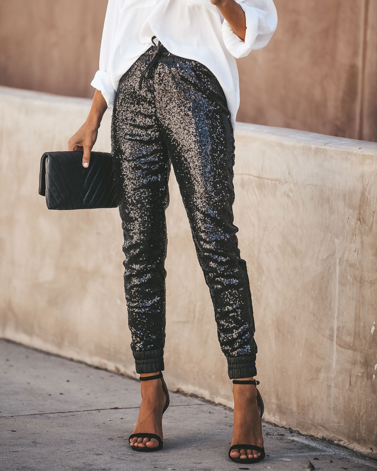 2019 Women Sexy Bodycon Pant Female High Waist Long Trousers Joggings Casual Pencil Sequined Pants