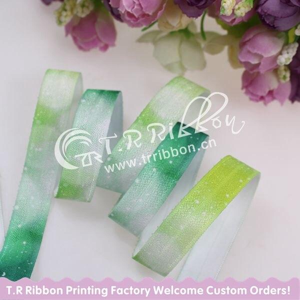 Модный дизайн! Rianbow Galaxy FOE ribble, 5/8 Складная эластичная лента для аксессуаров для волос, 100 ярдов/партия