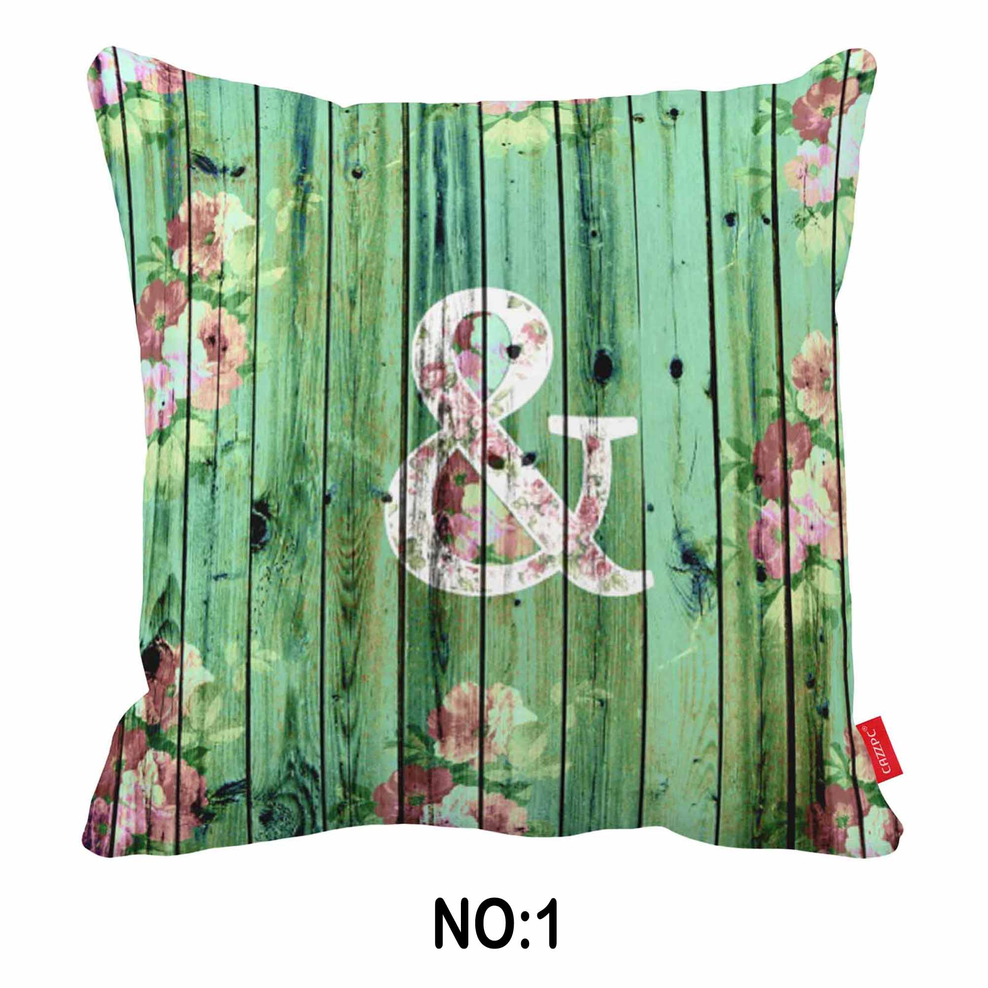 Flower Green Gray Wood Symbol Shadow Boho Print Canvas Car Decorative Throw Pillowcase Pillow Case Cushion Cover Sofa Home Decor