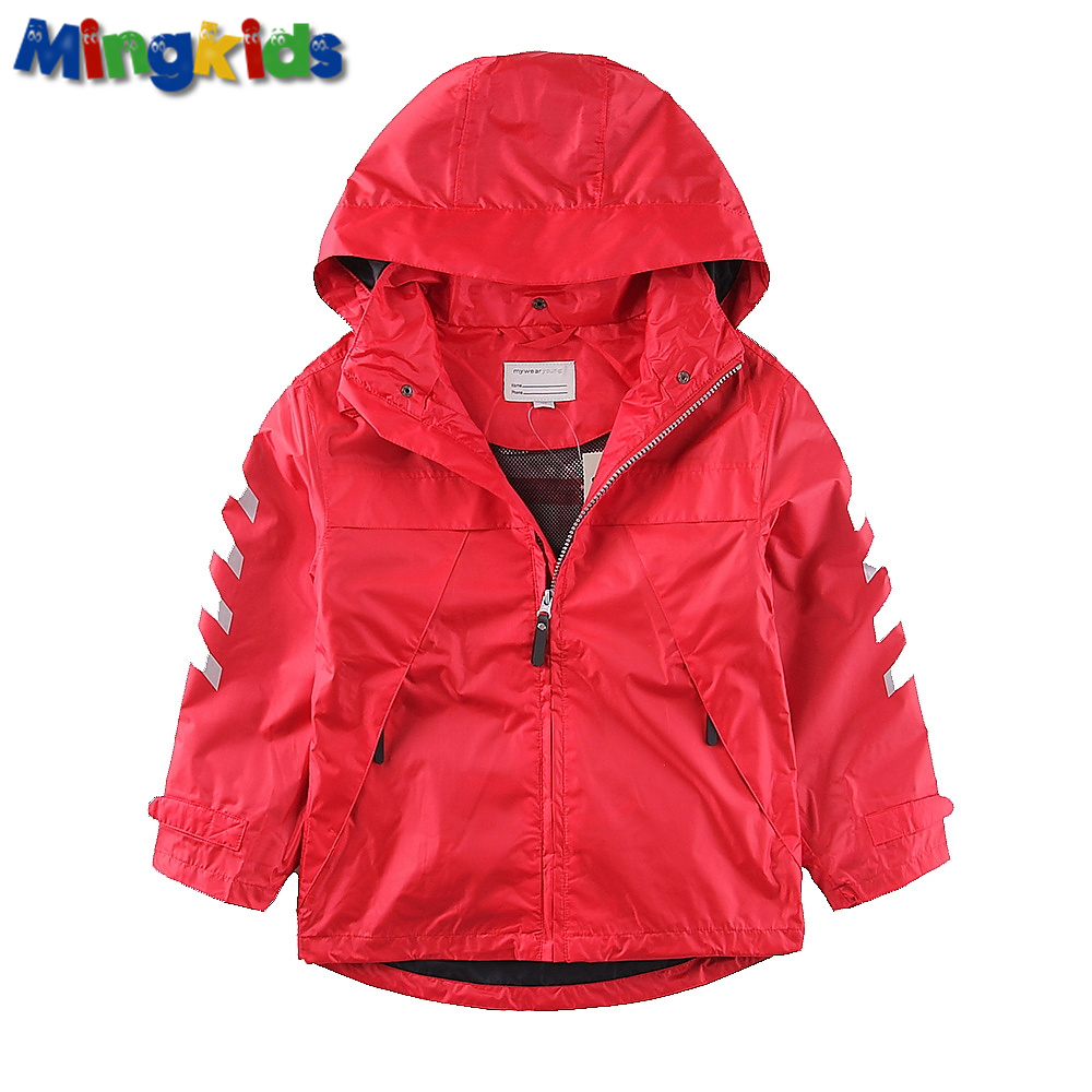 Mingkids High quality windbreaker jacket for boys waterproof outdoor raincoat Sport export Europe цена