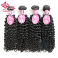 Queen Hair 4Pcs/Lot Brazilian Virgin Curly Hair 100% Unprocessed Brazilian Jerry Curly Human Hair Curly Hair Wefts 8A DHL Free