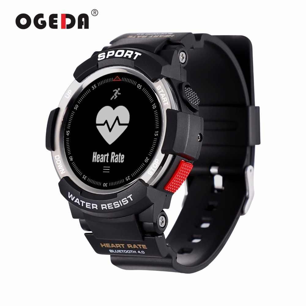 OGEDA Men Xem Bluetooth F6 Smartwatch IP68 CHỐNG Thấm Nước Heart Rate Monitor Tracker Thể Dục Thông Minh xem với Multi Chế Độ Thể Thao T50