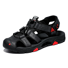 Big Size Classic Men Soft Sandals Comfortable Summer Shoes Leather Beach size 45 outdoor sandals