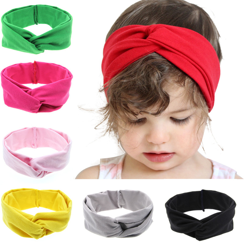 cute Baby Kids Girl Children Toddler Newborn Infant lovely Plaid Rabbit Ears Hairband Turban Knot Headband Hair Band WW-KT005 headband baby girl hair bows newborn elastic hair band kids cute children hair accessories ribbon head band with dot 2pcs set