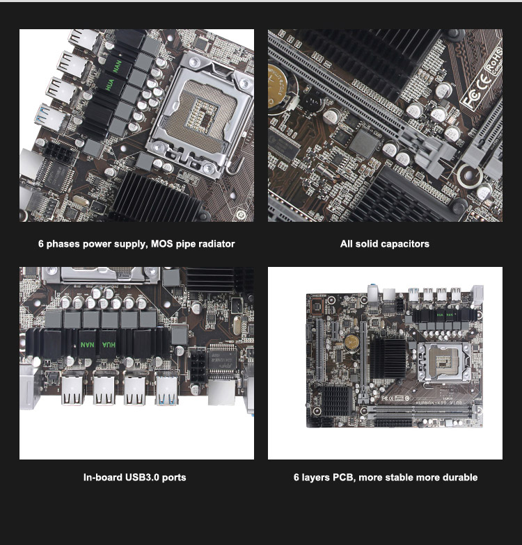 Details about Brand new motherboard HUANAN ZHI X58 LGA1366 motherboard for  CPU Intel Xeon