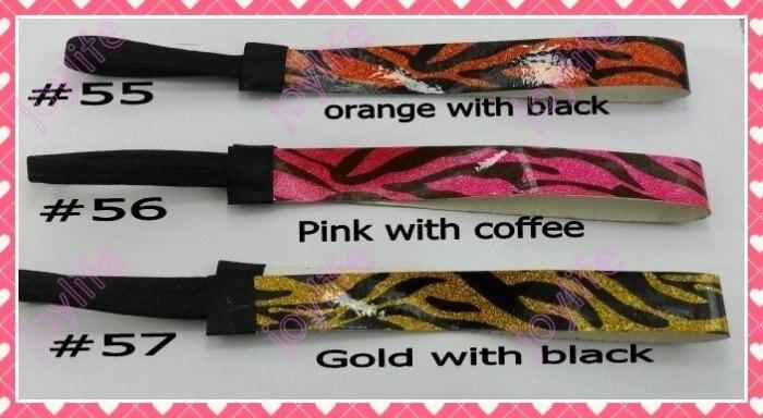 Разные цвета, 90 шт., 3/4 дюйма, модные блестящие повязки для девочек, повязка для волос для софтбола
