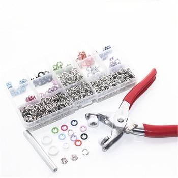1 alicates + 150 juegos 9,5mm clavija de metal botones broches de presión para sujeción Poppers bebé Romper hebilla Snap + 1 caja