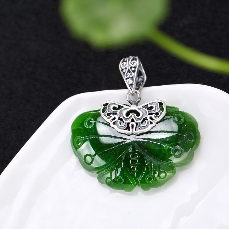 2018 Limited Sale Inlay Restoring Ancient Ways Of Hetian Butterfly Pendant Female Clavicle Hang Drop Wholesale High-grade Joker цена 2017