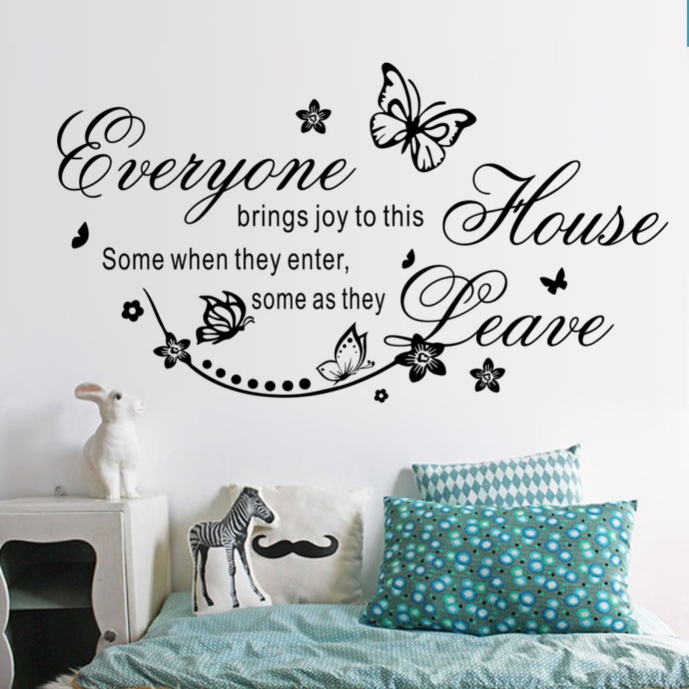 New leave joys when they enter the house house quotes wall stickers kids room bedroom